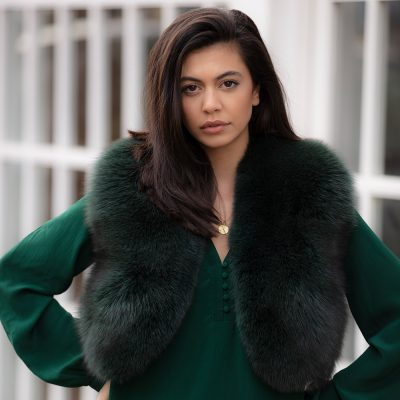 Martha Green Fox Fur Bolero