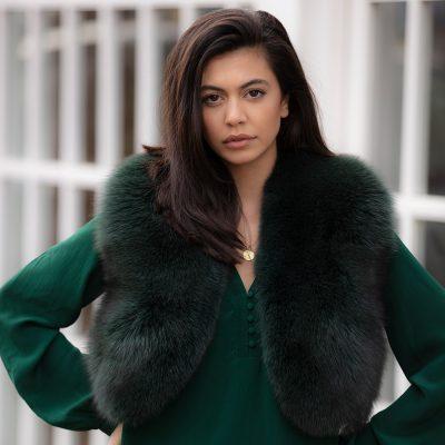 Martha Green Fox Fur Bolero