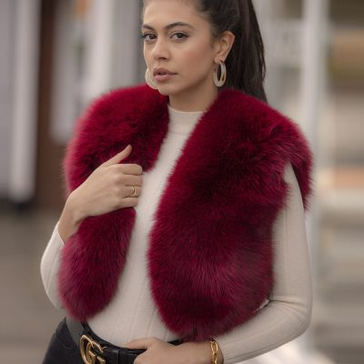 Martha Red Fox Fur Bolero