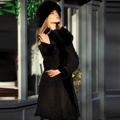 Poppy Black Toscana Reversible Coat