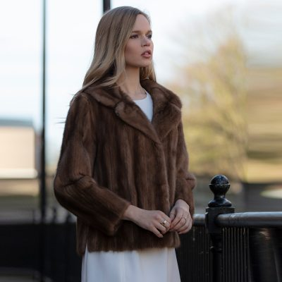 Issy Vintage Honey Saga Mink Fur Jacket