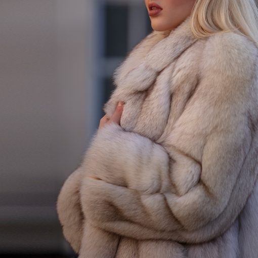 Dylan Blue Saga Fox Vintage Oversized Fur Jacket
