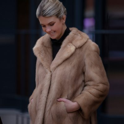 Eloise Light Honey Vintage Mink Fur Jacket
