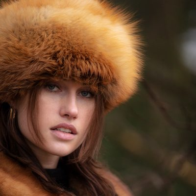 Gigi Vintage Toffee Brown Fox Fur Hat