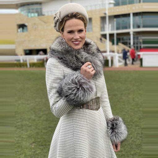 Francesca Silver Fox Fur Cuffs