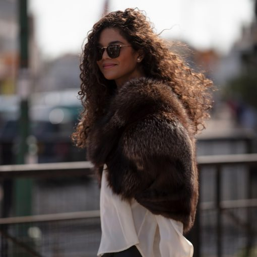 Bella Silver Vintage Fox Fur Cape