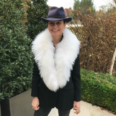 Louise Large White Raccoon Fur Collar