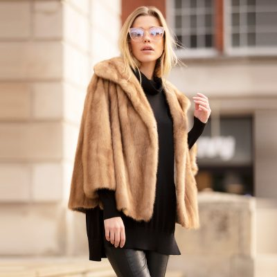 Victoria Honey Vintage Mink Fur Jacket