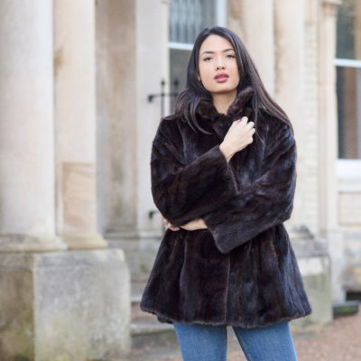 Rachel Dark Brown Vintage Mink Fur Jacket