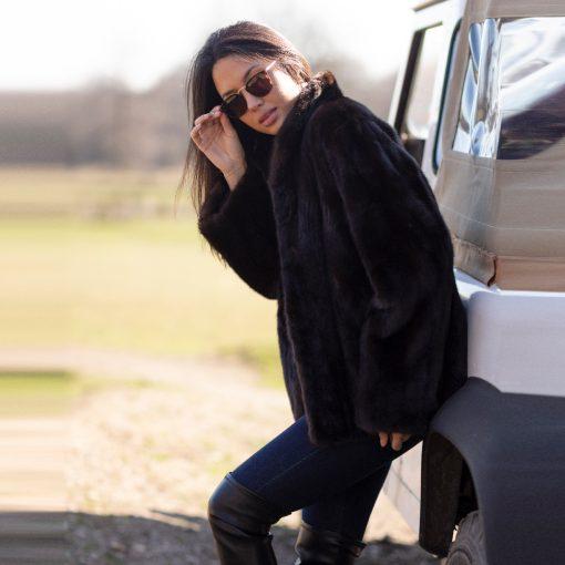 Lucy Vintage Brown Mink Fur Jacket