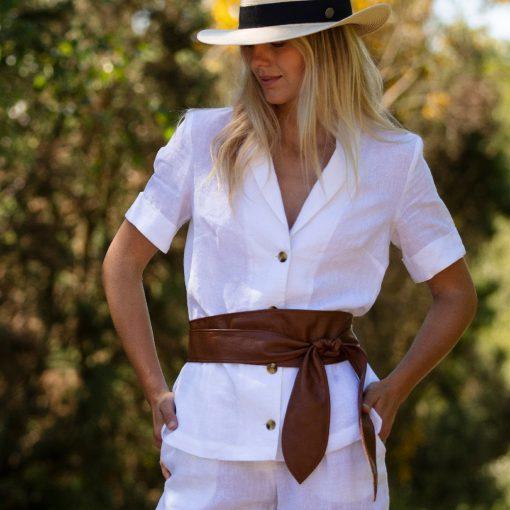 Cici Soft Leather Tan Belt
