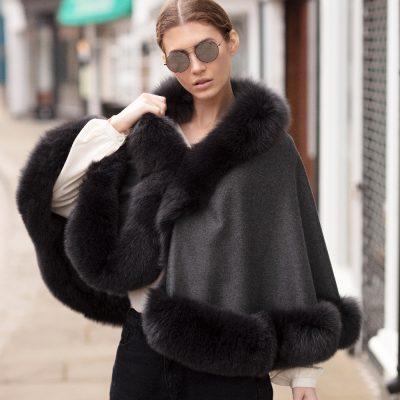 Nicola Cashmere and Fox Fur Cape