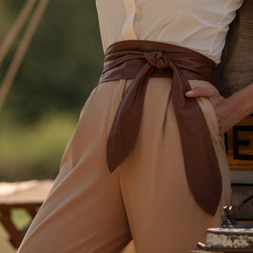Cici Soft Leather Coco Chocolate Brown Belt