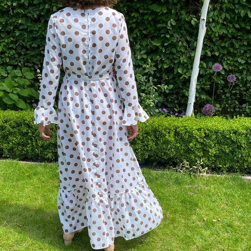 Dotty Vintage Maxi Dress