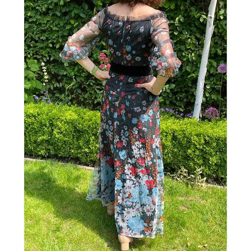Fiona Vintage Floral Maxi Dress