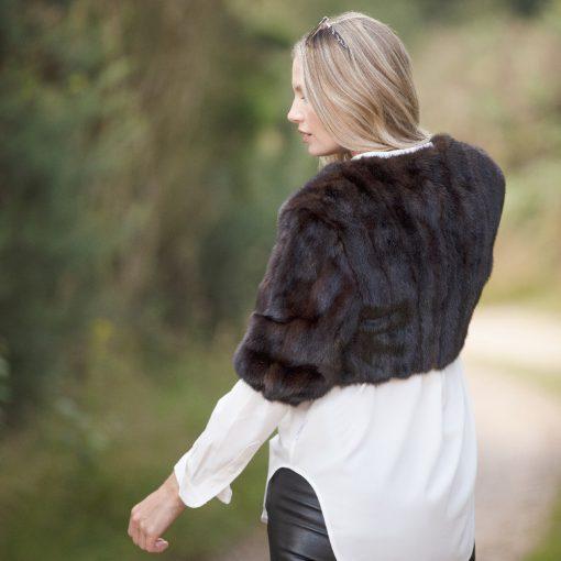 Vintage Cropped Brown Mink Fur Grace Jacket