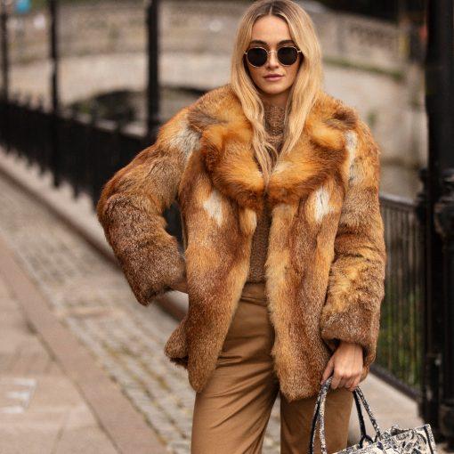Vintage Red Fox Fur Rosie Jacket