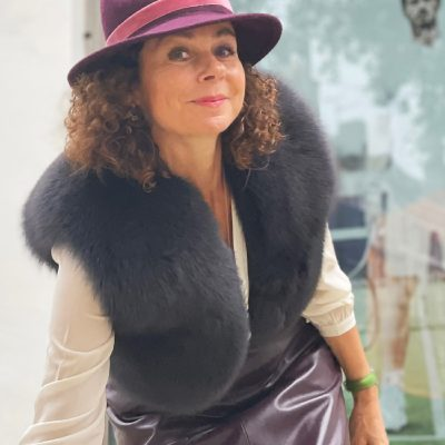 Martha Grey Fox Fur Bolero