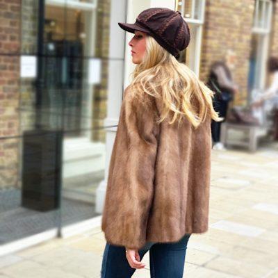Sasha Vintage Honey Mink Fur Jacket